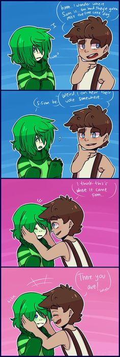 Septiceye Sam and Tiny box Tim fluff....so cute!♡ You guys can check out my board for more Septiceye Sam and Tiny box Tim fluffy pins ^ω^