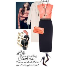 How to wear pencil skirt