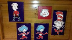 Decoupage wall art: Dr. Seuss theme (2/2013)