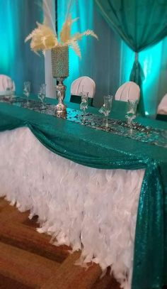 Quinceanera Party Planning – 5 Secrets For Having The Best Mexican Birthday Party Tiffany Party, Tiffany Wedding, Quince Decorations, Wedding Decorations, Teal And Grey Wedding, Crown Centerpiece, Parisian Party, Wedding Reception Backdrop, Quinceanera Party