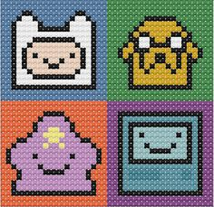 Adventure Time Cross Stitch Chart by VerityVelcro on Etsy, £1.25