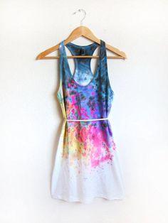Paint Splattered Dress