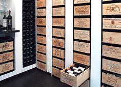 Wijnkistenrek / wijnkisten rek van degelijke Duitse kwaliteit.