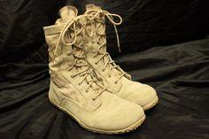 Tactical Research Belleville Desert Combat Boots Shoes Vibram Soles 12 R VGC #TacticalResearch #Tactical