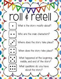 Roll and Retell by Nick Rizzo https://docs.google.com/presentation/d/19YnXoaINfmUn6nUKekqHbuvQDo5SG7G7A4XBVSwYdks/edit#slide=id.g742e3e7cd_1_16