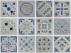 A Song of the Weather - Twelve small Hardanger designs based on the basic shapes of square, diamond and octagon, with a variety of bars, filling stitches and surface stitches.