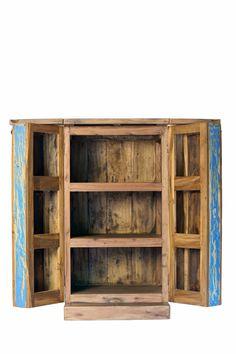 Armoire De Bar 2 Portes En Bois De Bateaux De Java Recycle Bois Massif Piece Unique Meuble D Interieur Ou Mobilier De Salon Porte Bois Idees Pour La Maison