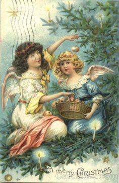 Vintage Christmas Post Card, A Merry Christmas