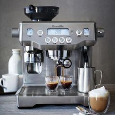 cappuccino machine Shop Breville Oracle Semi-Automatic Espresso Machine and more from Sur La Table! Espresso Machine Reviews, Coffee Maker Reviews, Best Espresso Machine, Breville Espresso Machine, Latte Art, Nespresso, Café Espresso, Automatic Espresso Machine, Recipes