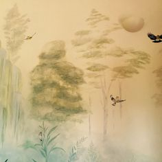 Birds and trees on wall Nepi, Italy By Ingrid Sivori