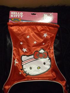 Hello Kitty red blk athletic cinch sack sport practice dance back pack Sanrio #Sanrio #Backpack