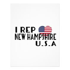 I REP NEW HAMPSHIRE U.S.A DESIGNS LETTERHEAD Custom Legal Branding Office Products and Gifts #legal #lawyer #solicitor #law