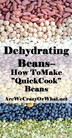 Step by step directions for dehydrating beans or making quick cook beans. I go over the why you'd want to do this and what could go wrong. #beselfreliant