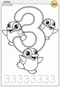 Number 3 - Preschool Printables - Free Worksheets and Coloring Pages for Kids (L.,Number 3 - Preschool Printables - Free Worksheets and Coloring Pages for Kids (Learning numbers, counting - Broj 3 - Bojanke za djecu - brojevi,. Coloring Worksheets For Kindergarten, Preschool Number Worksheets, Preschool Coloring Pages, Numbers Kindergarten, Numbers Preschool, Learning Numbers, Free Preschool, Preschool Printables, Worksheets For Kids