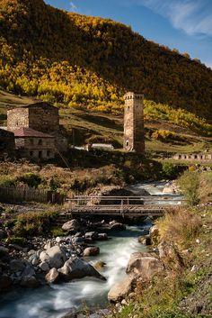 The Svan Towers of Ushguli Georgia Country, Homeland, Georgian, Towers, Image Search, Buildings, Beautiful Places, Road Trip, Language
