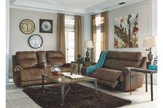 Brown Austere Power Reclining Sofa View 3