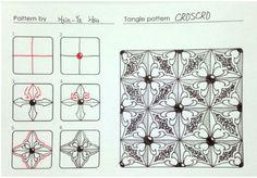Zen painting designs around Zentangle pattern - CROSCRO @ damy joy as random ruffian off state PIXNET :: ::