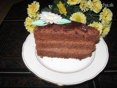 Fantastická čokoládová torta (fotorecept) - Recept Tea Time, French Toast, Cheesecake, Cooking Recipes, Sweets, Breakfast, Food, Mascarpone, Bakken