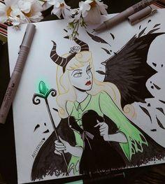 Artist: Alef Vernon #inktober #sleepingbeauty