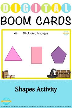 This boom learning deck is perfect to teach the preschoolers about the recognition of shapes like triangle, rectangle, square, circle and pentagon. #boomcards #boomlearning #shapes #shapesactivity #preschoolers #square #triangle #circle #shapesboomcards #preschoolactivity #distancelearning #digitalclassroom #audio #shapesrecognition First Grade Classroom, Preschool Classroom, Kindergarten, Interactive Activities, Preschool Activities, School Resources, Teaching Resources, Virtual Class, Social Science