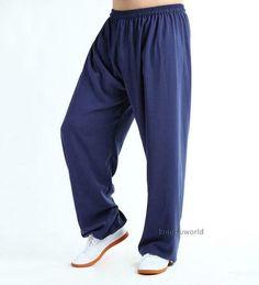 b94039844 Sponsored(eBay) Cotton & Silk Tai chi Kung fu Pants Wushu Yoga Gym Martial