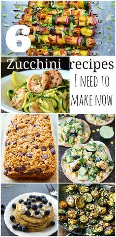 6 zucchini recipes I need to make right now