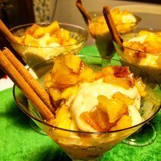 Sorvete vegano de banana com maçã caramelada                              …