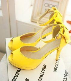 Cute Yellow Heels | Tsaa Heel