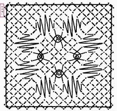 Pour le carré n° 14 ce sont des grilles et des araignées qui sont posées sur un fond torchon                Si vous réalisez un ouvrage avec...