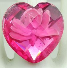 Pink Flower Heart by victoriascharms on Etsy