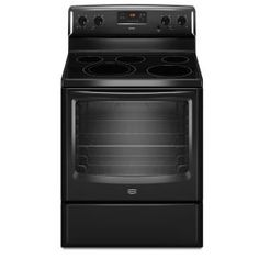 Maytag AquaLift 6.2 cu. ft. Electric Range with Self-Cleaning Oven in Black-MER8674AB at The Home Depot