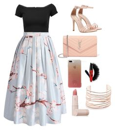 """""""Untitled #2"""" by savannahc5 ❤ liked on Polyvore featuring interior, interiors, interior design, home, home decor, interior decorating, Alice + Olivia, Chicwish, Yves Saint Laurent and Kate Spade"""