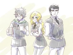 Young Ozpin, Glynda and James