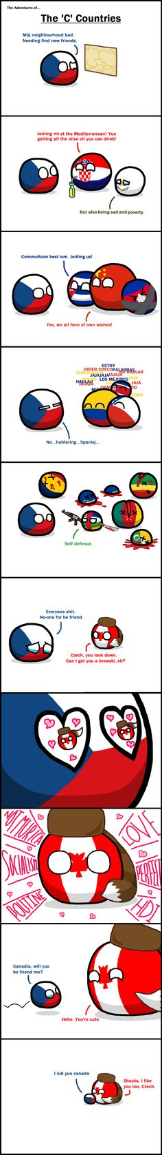 Adventures of the C countries.