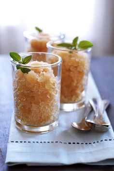Honey & Mint Sweet Tea Granita | Kumquat - i found this just in time for the summer heat. i think it would be great for a grilling party.