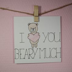 Handlettering inspiratie #3 - Valentijnskaarten, i love you beary much