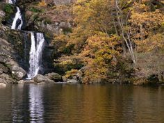 water falls of loch lomond, scotland