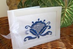 Embroidered Greeting Card Renaissance style by EvikeEmbroidery, $9.50
