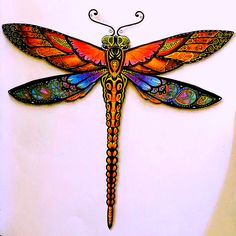 My colored version of the 'Dragonfly' #enchanted_forest