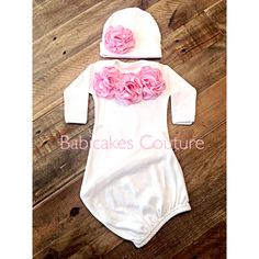 3cb69fcd9dc8 Items similar to Newborn Girl Take Home Outfit