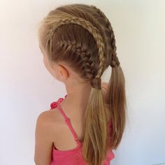 Again style we did while ago😊 Dutch lace braids and french braids into pigtails. We have been so busy this week that we haven't been able to do any new braids so when the weekend starts we hopefully have much more time for braiding☺️