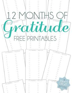 make a yearly Gratitude Journal. Includes free printable calendar pages.
