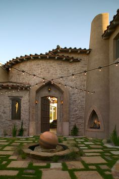 Tuscan style Entry Courtyard Patio