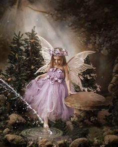 Elfen Diamond Painting Purple Tulle Fairy Kit Offered by Bonanza Marketplace. Beautiful Fantasy Art, Beautiful Gif, Beautiful Fairies, Beautiful Angels Pictures, Fairy Pictures, Angel Pictures, Fairy Photoshoot, Fairy Photography, Foto Fantasy