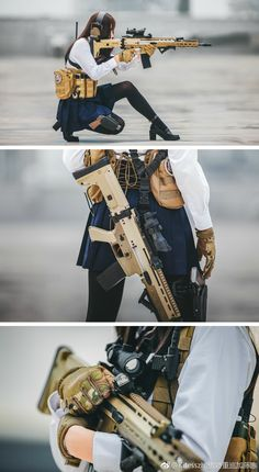 The a really nice rifle... the girl is a rockin' edition also