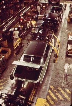 1973 Cadillac assembly line