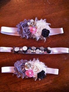Headbands and accessories for little girls and women   www.facebook.com/fiveforleys  www.etsy.com/shop/fiveforleys