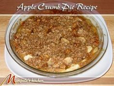 Apple Crumb Pie is simple, delicious, and easy to make. This dessert is perfect for fall and winter months. Hot apple crumb, topped with vanilla ice cream – my kind of a dessert, and popular with any family.