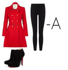 """""""Pretty little liars A costume"""" by gummybears4life ❤ liked on Polyvore featuring Yumi, James Perse and Christian Louboutin"""