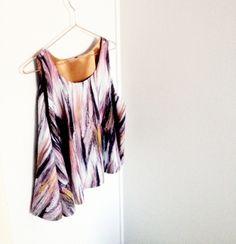 Circle top - design by me, fabric from Marimekko
